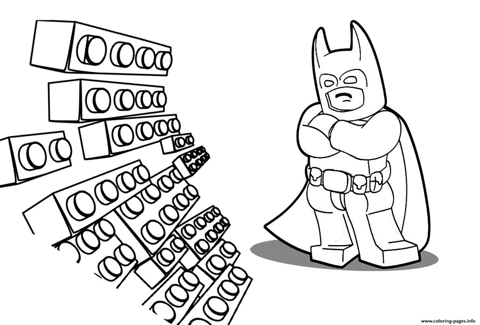 Lego Batman Movie Adventure Kids Coloring Pages Printable