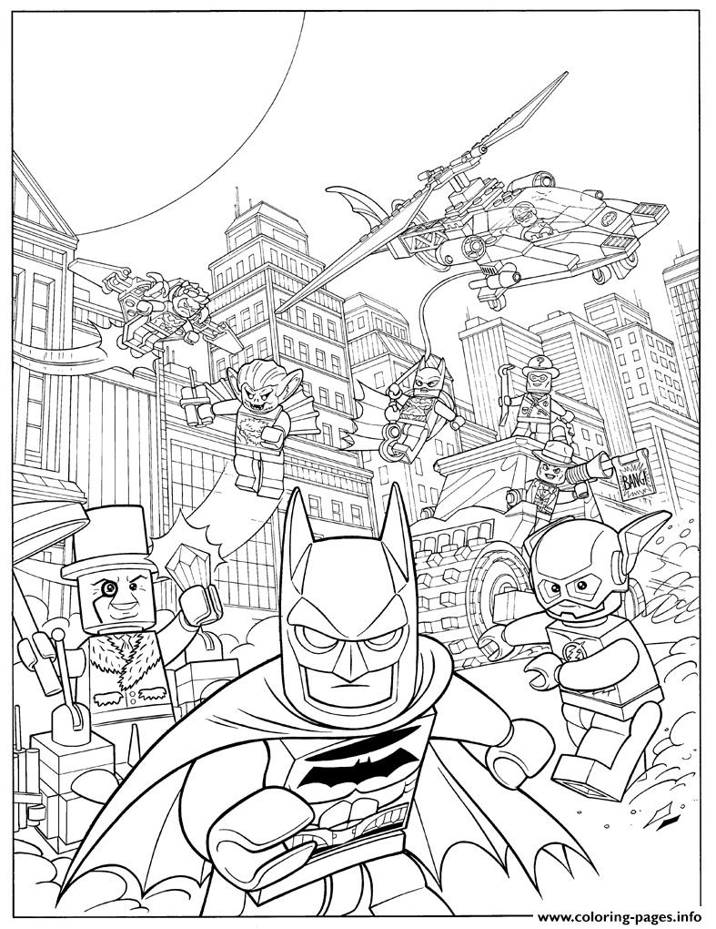 Lego Batman Fash Action Movie 2017 Coloring Pages