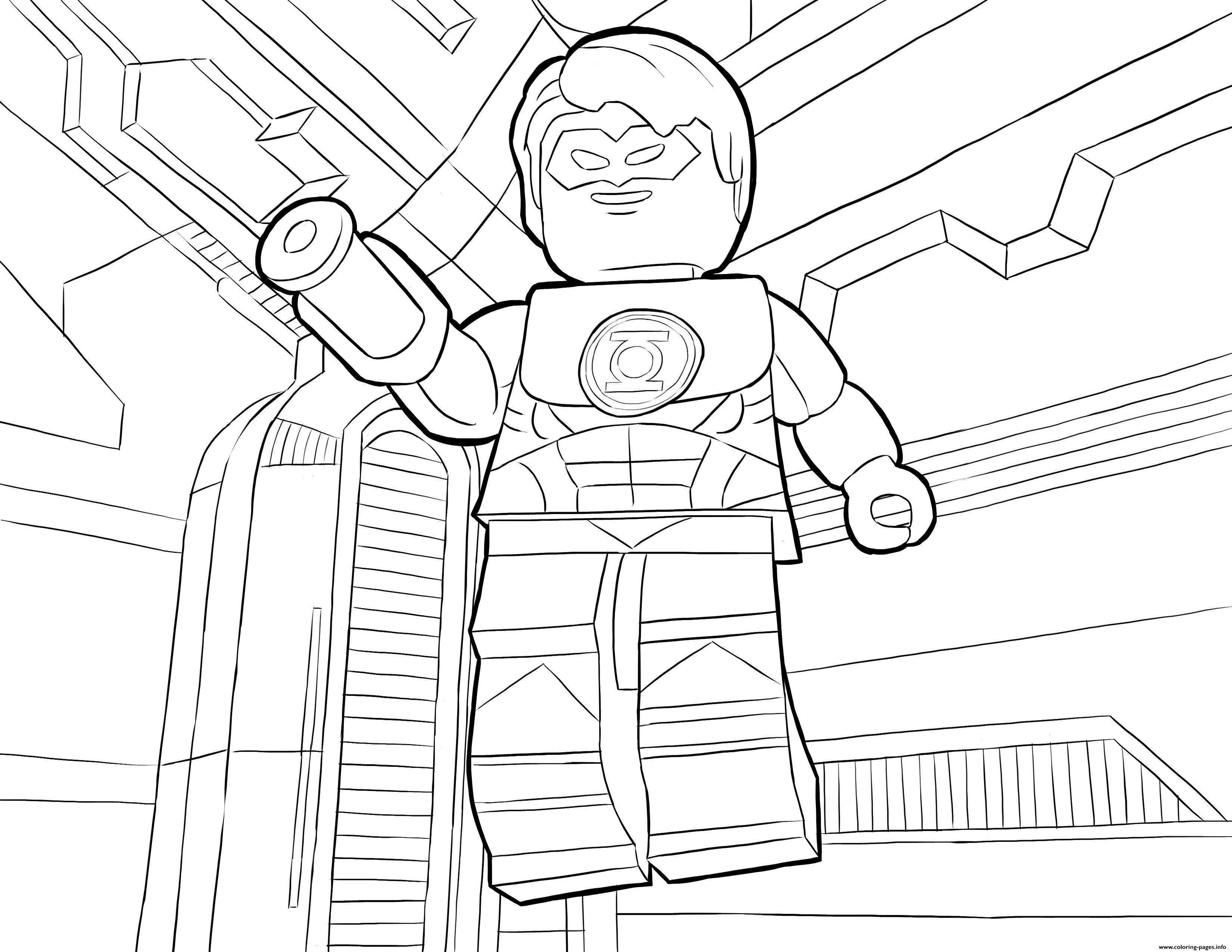 lego dc universe super heroes coloring pages printable
