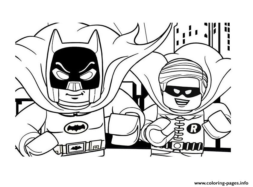 Printable DC Comics Super Heroes LEGO Batman Movie 2017 Coloring Pages