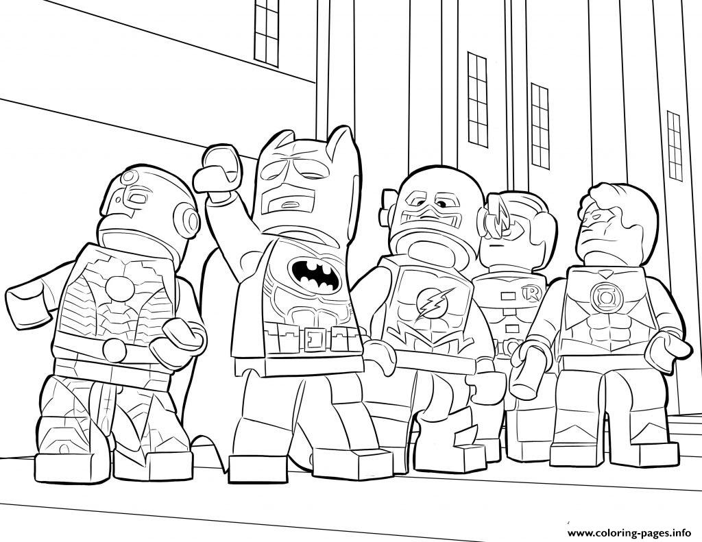Lego Batman Ironman Flash Coloring Pages Printable