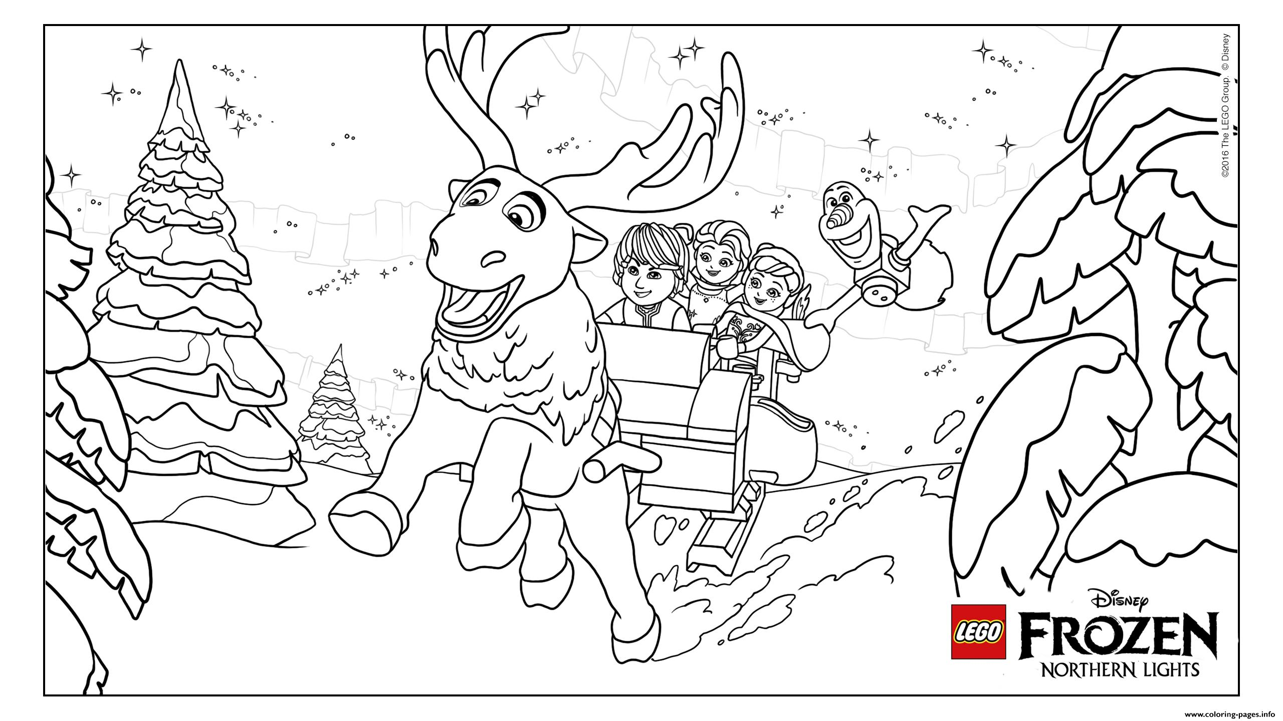 Coloring Pages Lego Frozen : Frozen nl group lego disney coloring pages printable