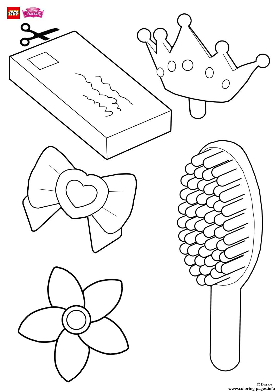 Lego star wars coloring pages free lego star wars coloring pages for - Help Decorate Rapunzels Hair Accessories Lego Disney