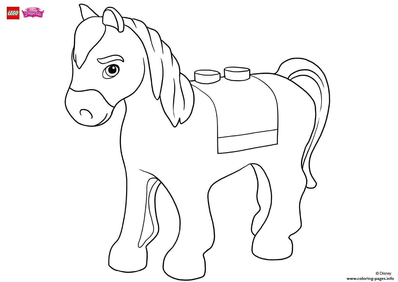 Help Make Maximus Look Good Lego Disney coloring pages