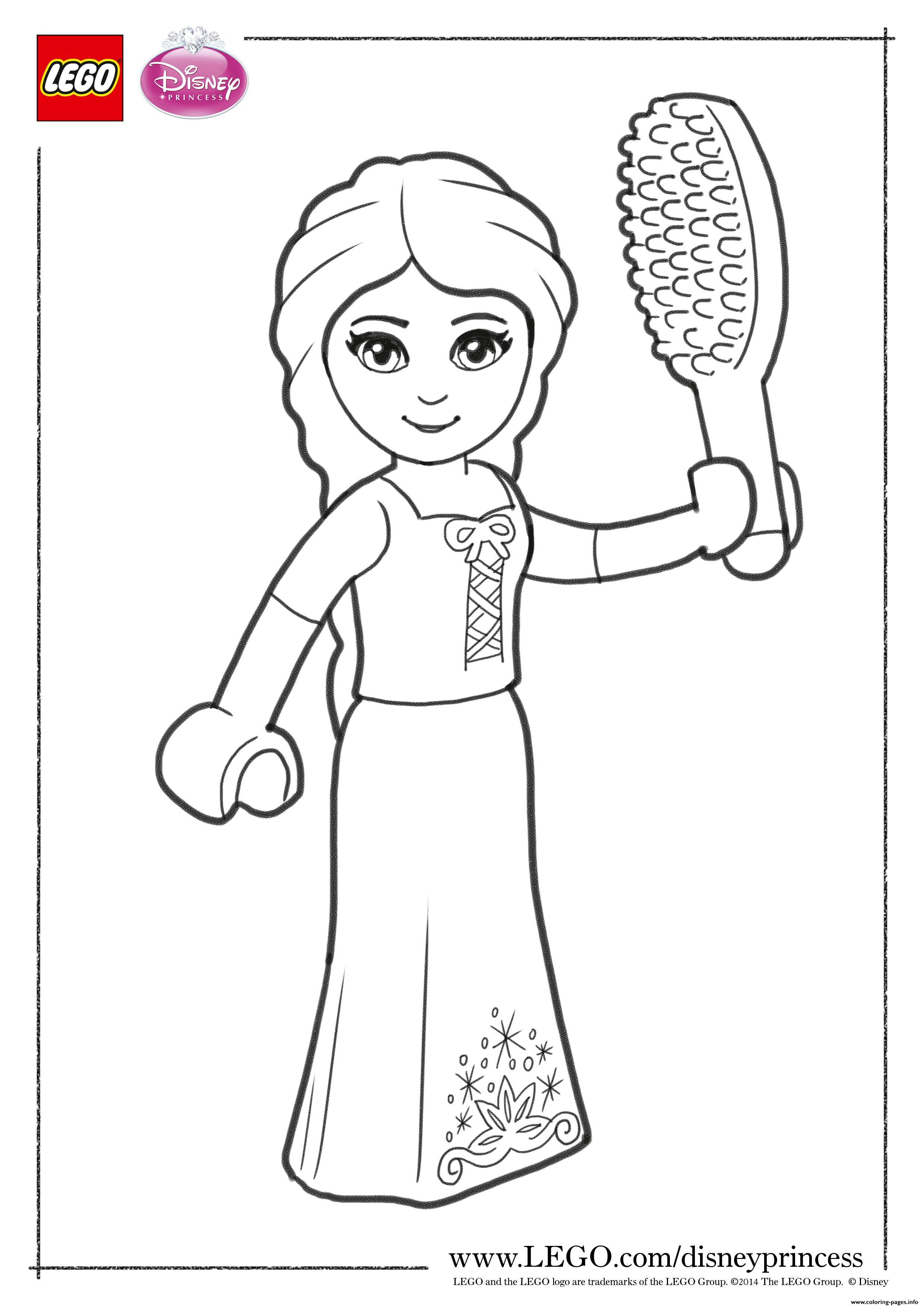 Rapunzel Close Up Lego Disney coloring pages