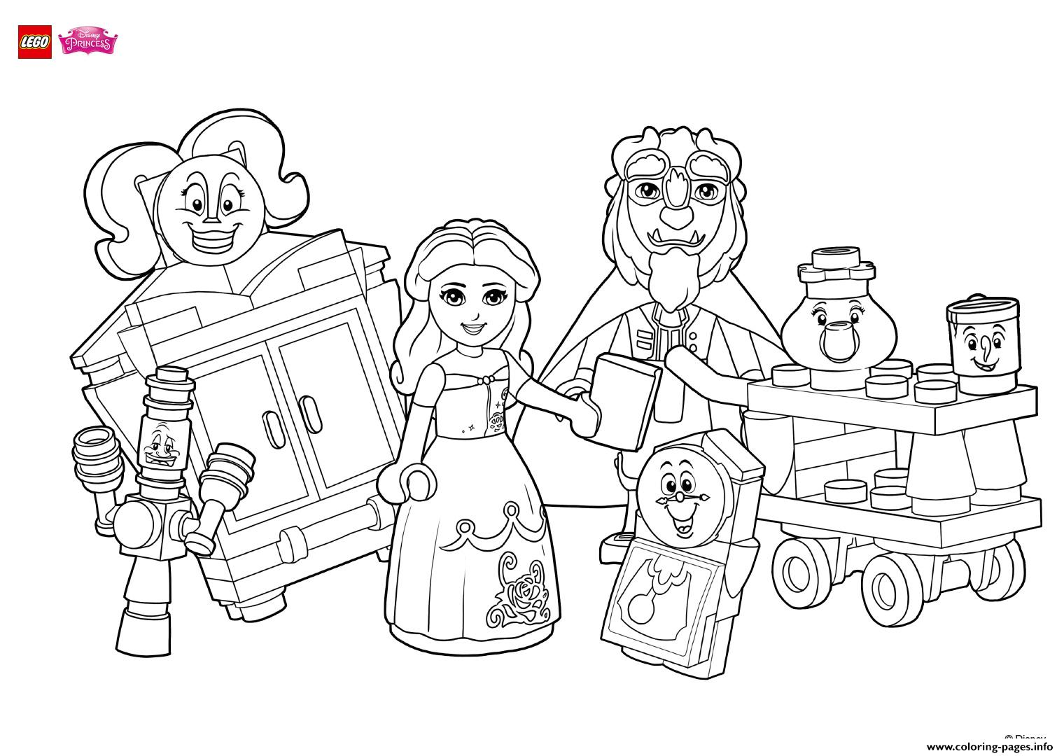Coloring Fun With Beauty And Her Friends Lego Disney