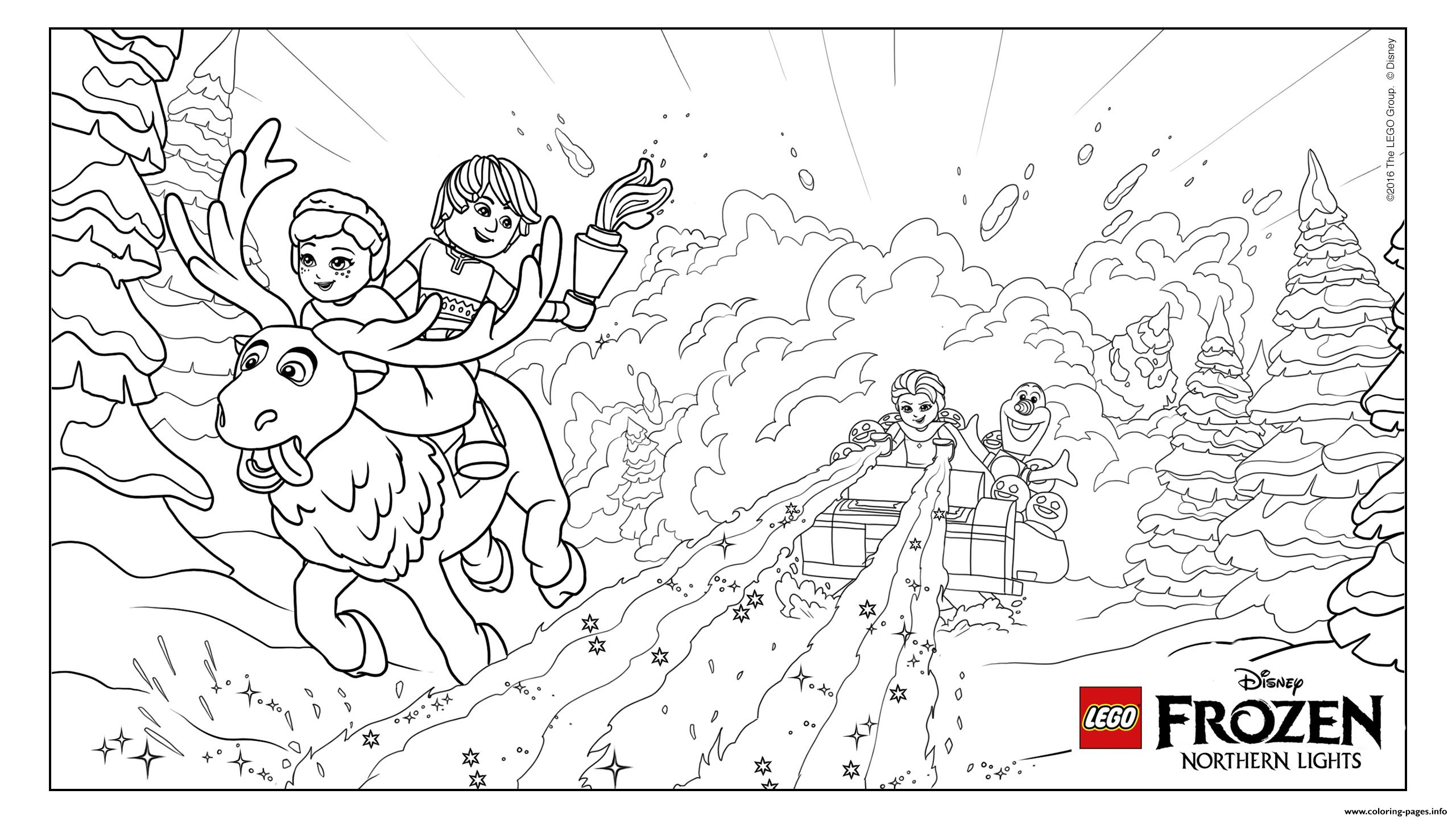 Coloring Pages Lego Frozen : Frozen nl avalanche lego disney coloring pages printable