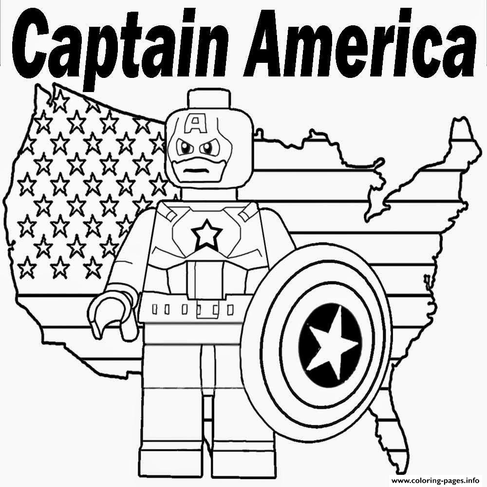 Lego Marvel Coloring Pages To Download And Print For Free: Lego Marvel Captain America Coloring Pages Printable