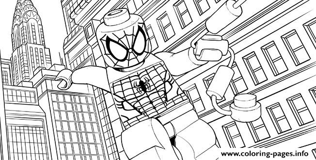Lego Marvel For Kids Spider Man Coloring Pages Printable