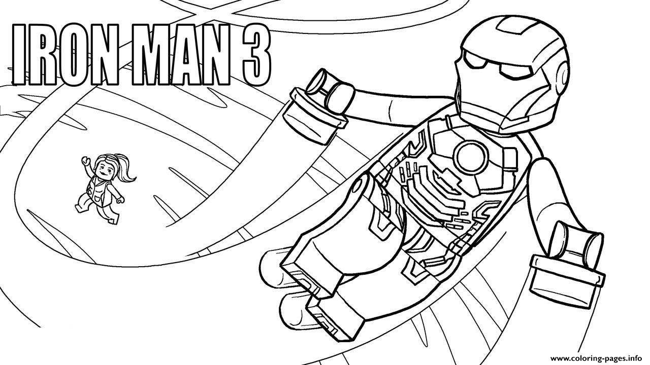 Lego Marvel Iron Man 3 Coloring Pages Printable