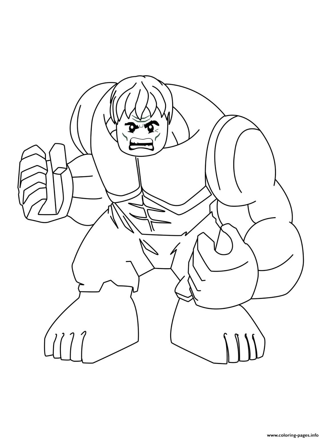Lego Marvel Super Hulk Coloring Pages Printable