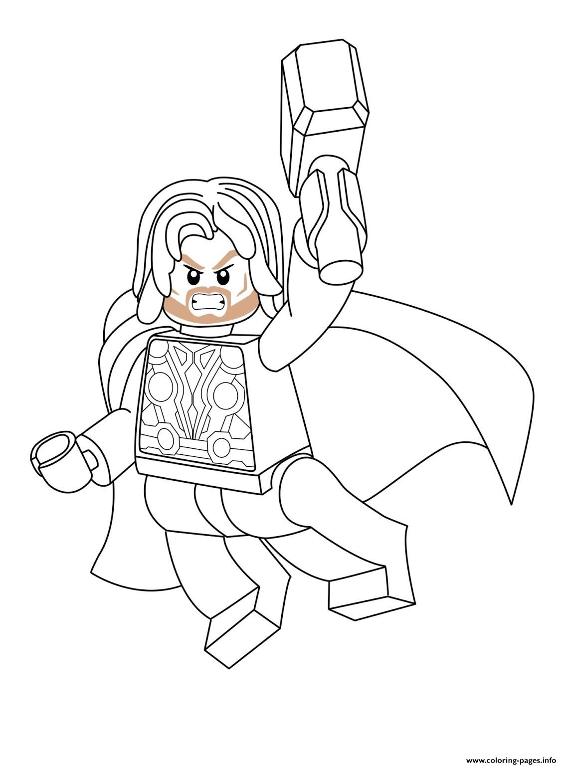 - Lego Marvel Thor Coloring Pages Printable