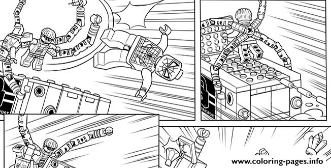 lego marvel with spiderman Coloring pages Printable