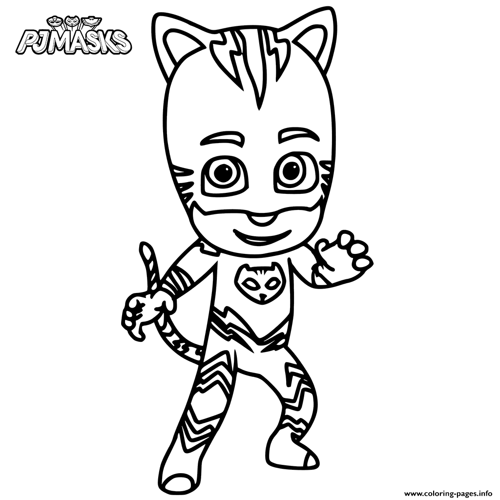 picture relating to Pj Masks Printable Coloring Pages referred to as Catboy Versus PJ Masks Coloring Webpages Printable
