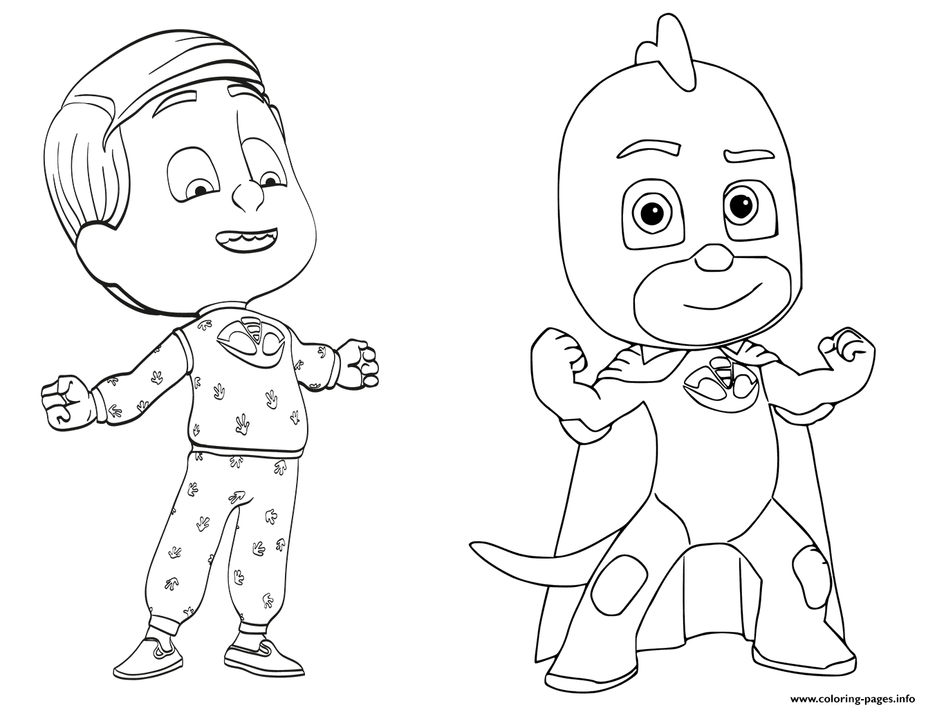 Disney pj masks coloring sheets -  Print Greg Is Gekko From Pj Masks Coloring Pages