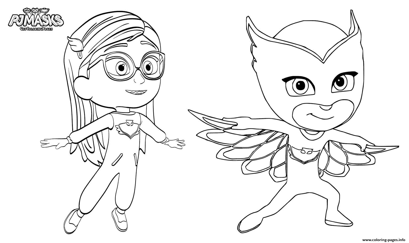 photograph relating to Pj Masks Printable Images named Pajama Hero Amaya Is Owlette Towards PJ Masks Coloring Webpages