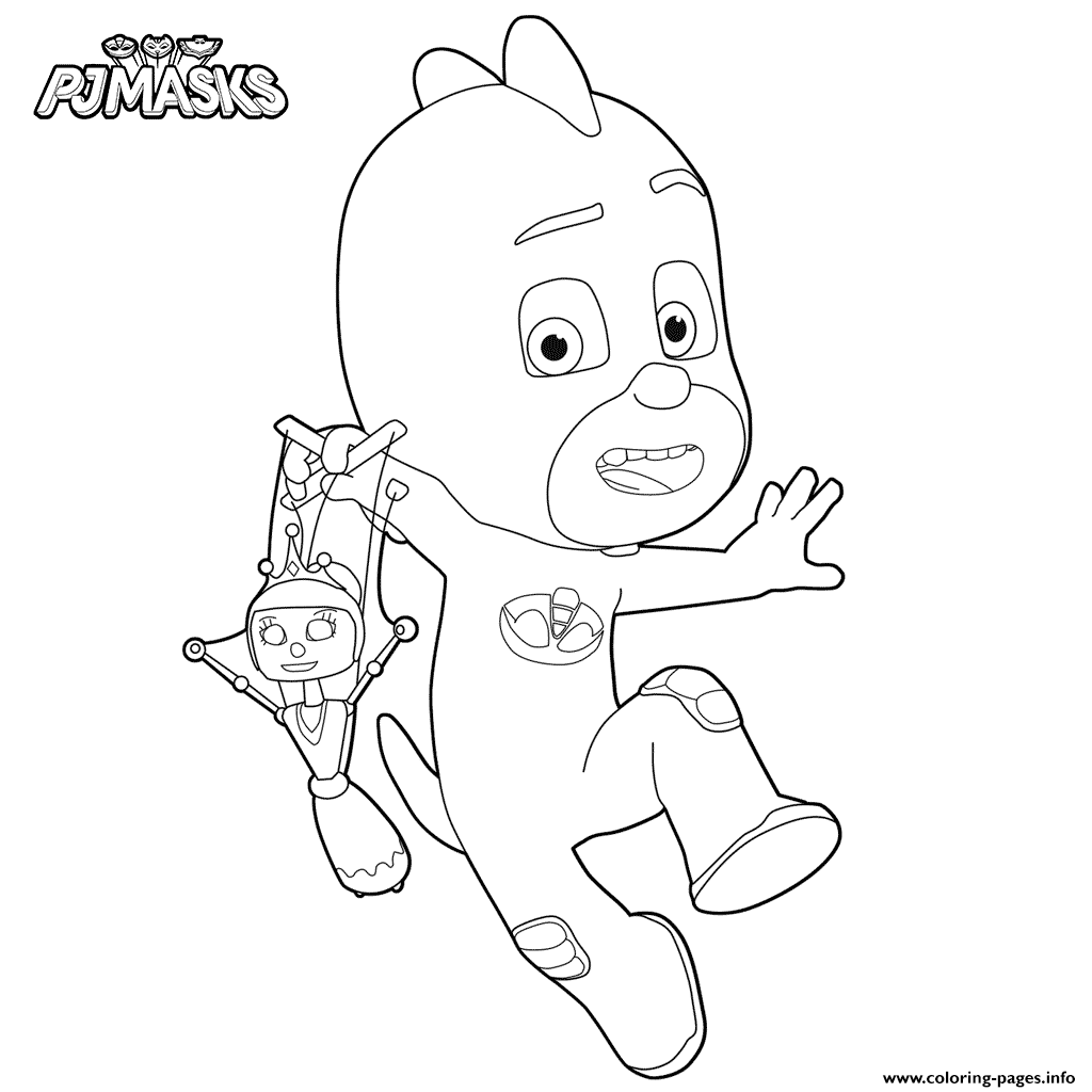 Disney pj masks coloring sheets - Coloring Pages Disney Pj Masks 40