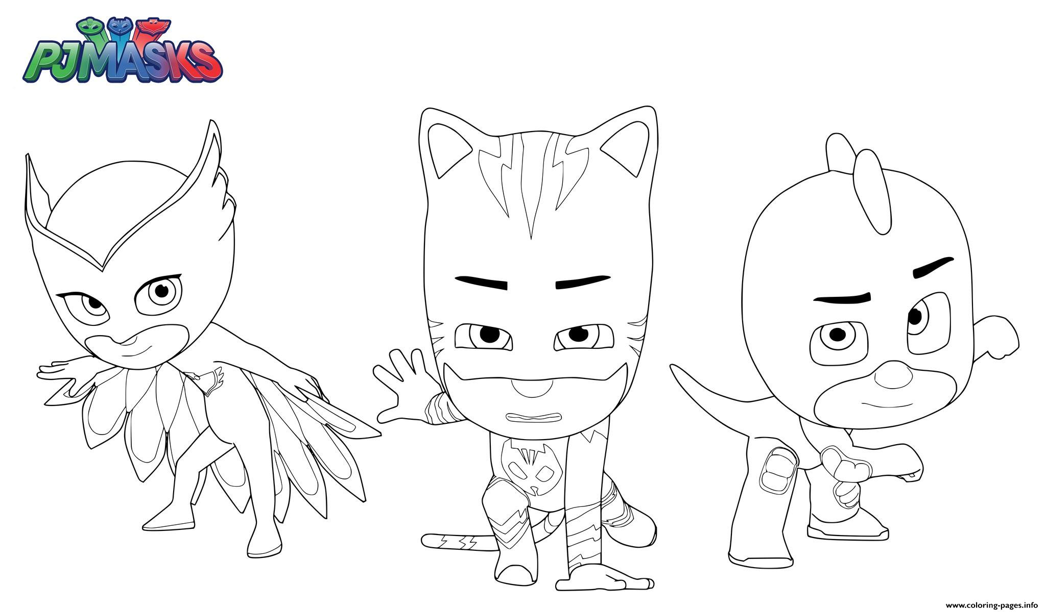 PJ Masks Superheroes Coloring Pages