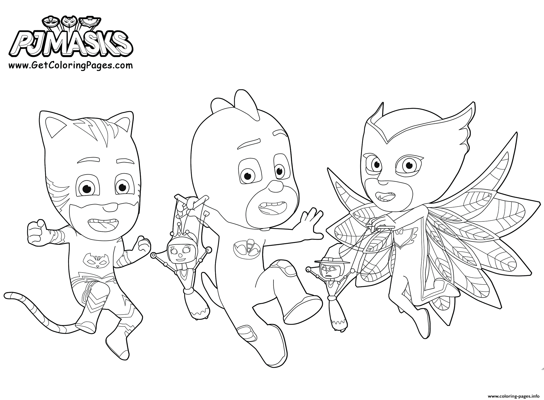 graphic relating to Pj Masks Printable Images known as Printable PJ Masks Get together Coloring Web pages Printable