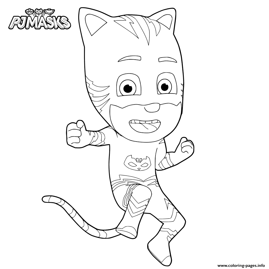 Disney pj masks coloring sheets - Coloring Pages Disney Pj Masks 9