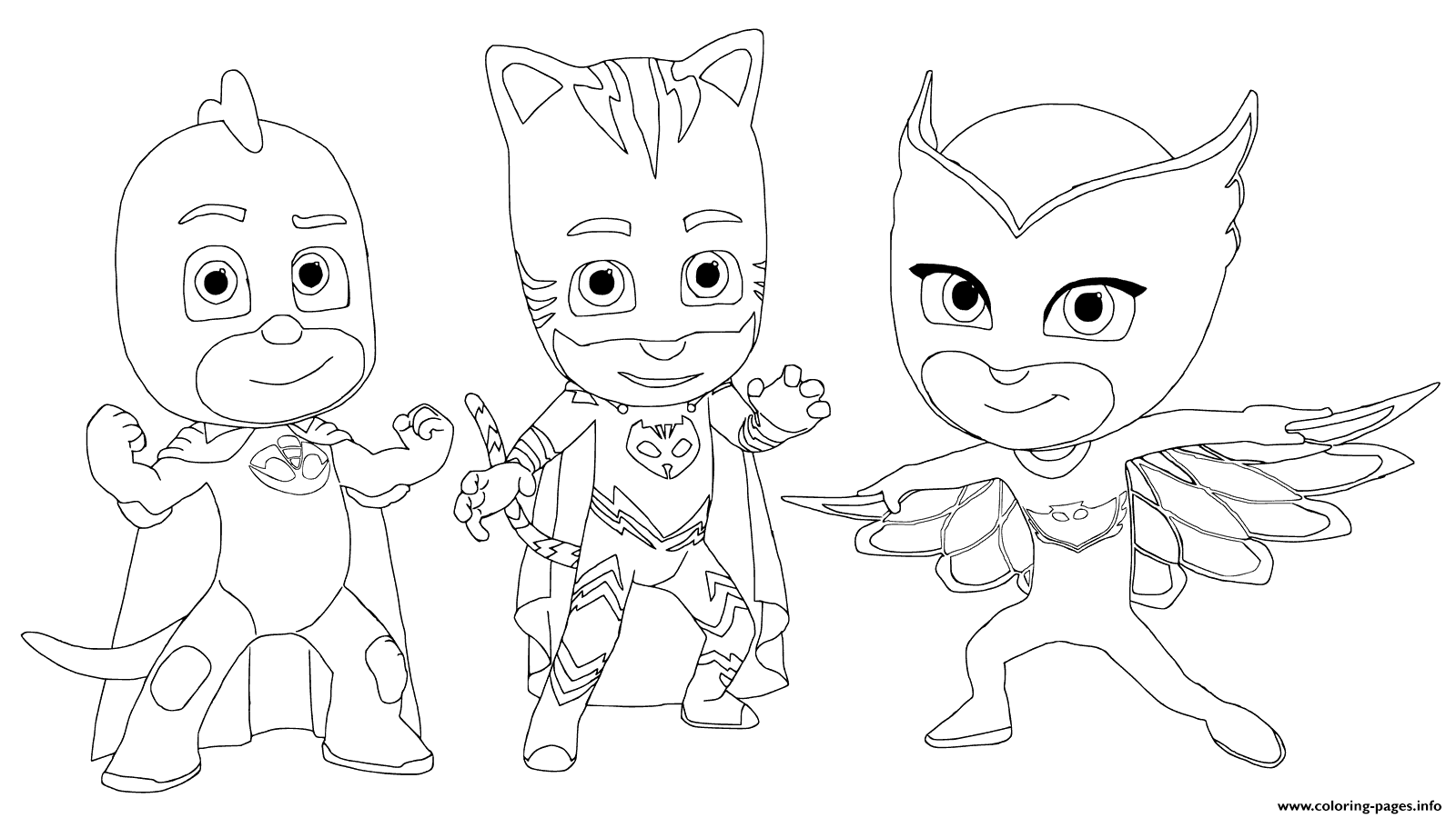 pj masks with friends coloring pages printable