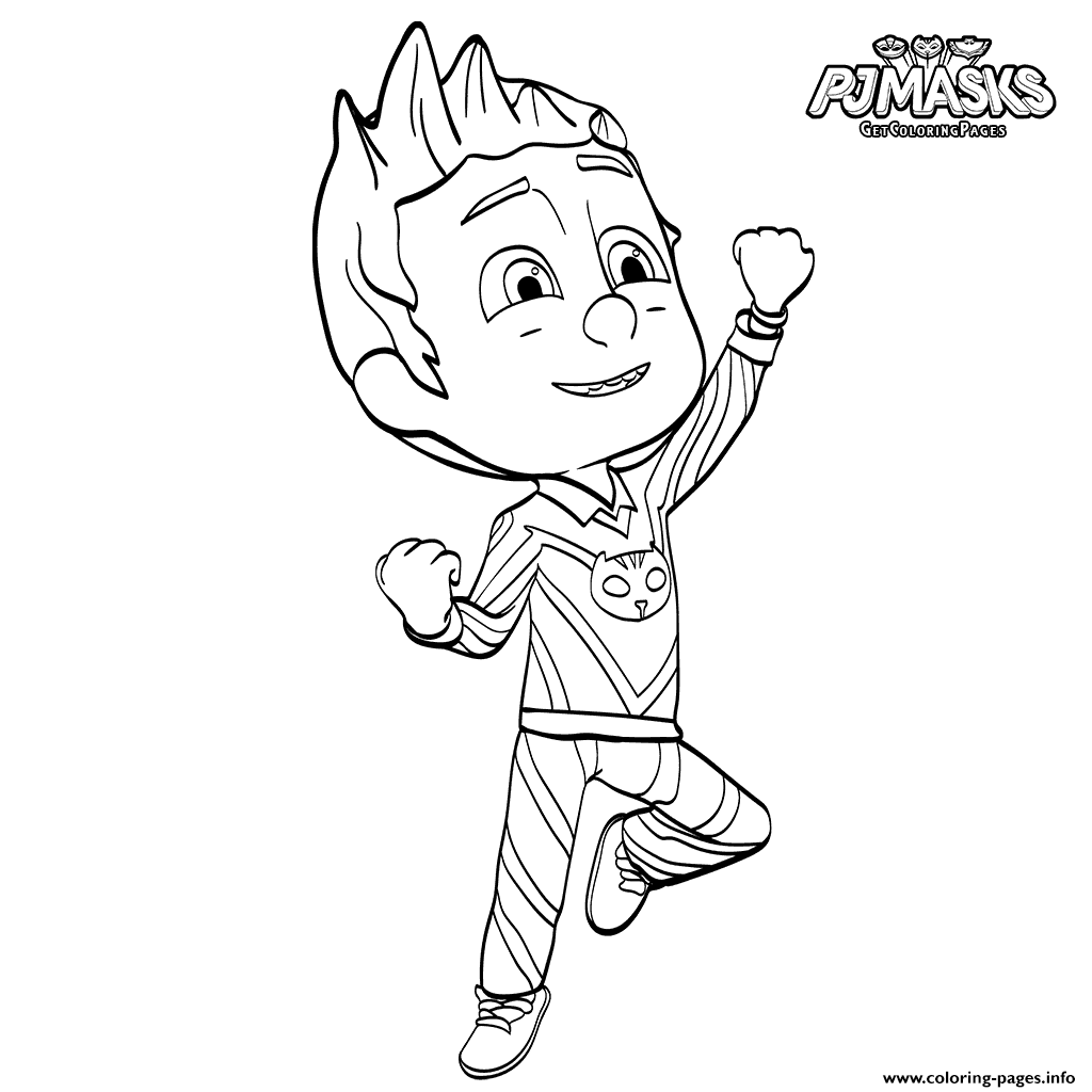 PJ Maskss Catboy Heroes In Pajama coloring pages