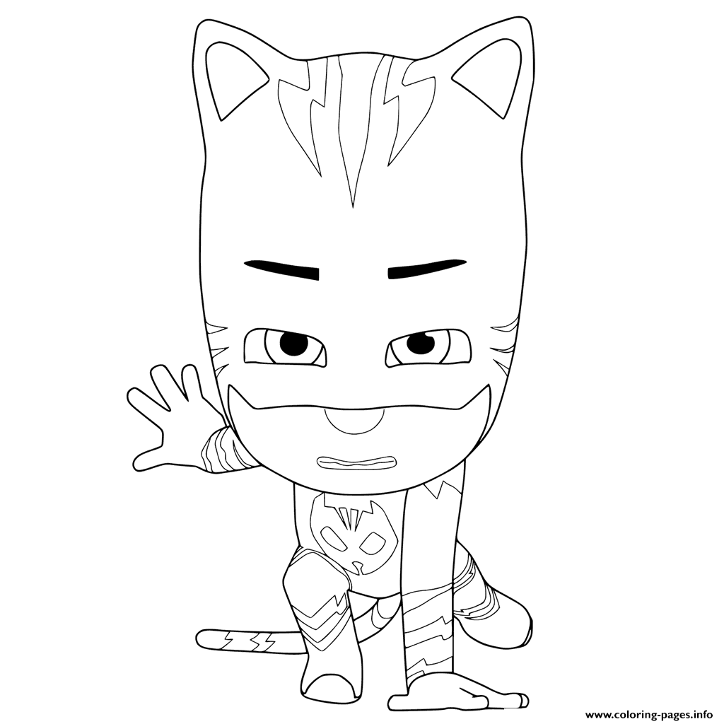 PJ Masks Ready To Fight Coloring Pages Printable