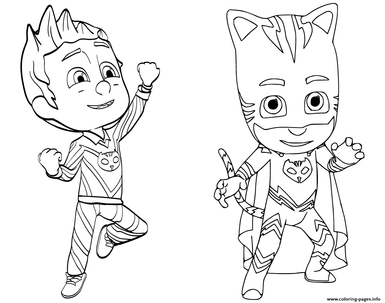 - Pajama Hero Connor Is Catboy From PJ Masks Coloring Pages Printable