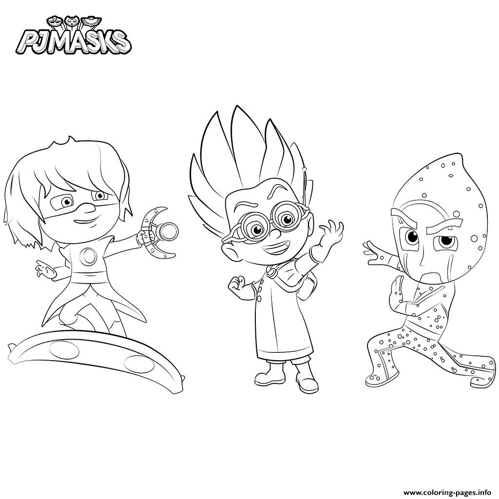Villains PJ Masks Coloring Pages Printable