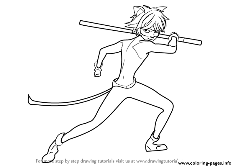 Miraculous Ladybug And Cat Noir Drawings Coloring Pages