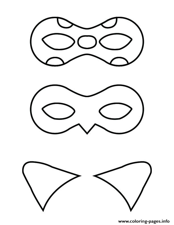 Ladybug And Cat Noir Mask Coloring Pages