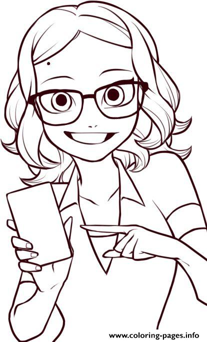 Miraculous Ladybug Coloring Pages Alya Cesaire Coloring Pages Printable