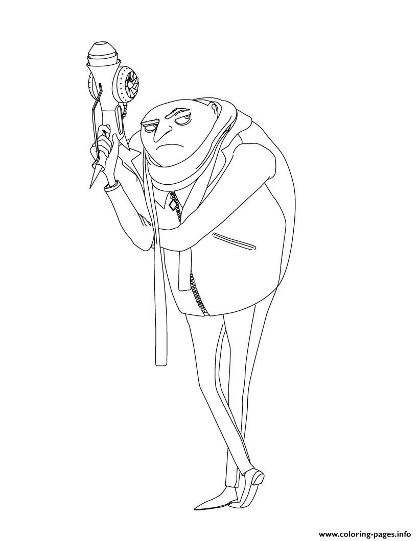 Despicable Me 3 Gru coloring pages