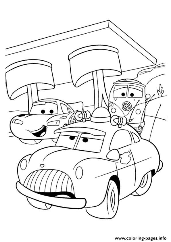 cars lightning mcqueen with friends a4 disney coloring pages printable