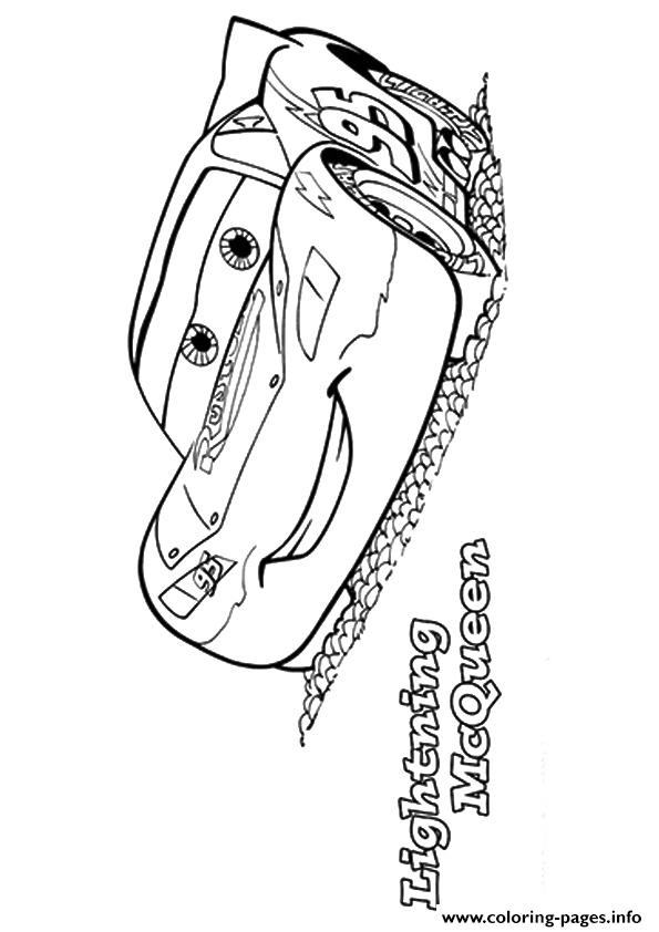 Cars The Lightning McQueen A4 Disney coloring pages