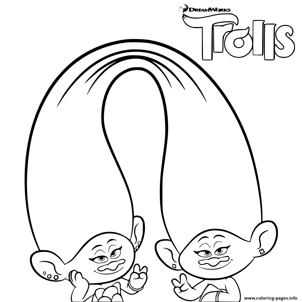 trolls coloring for girls coloring pages - Girl Coloring Pages