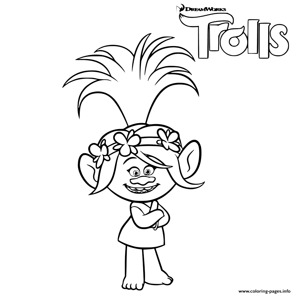 Trolls Poppy Troll Coloring Pages