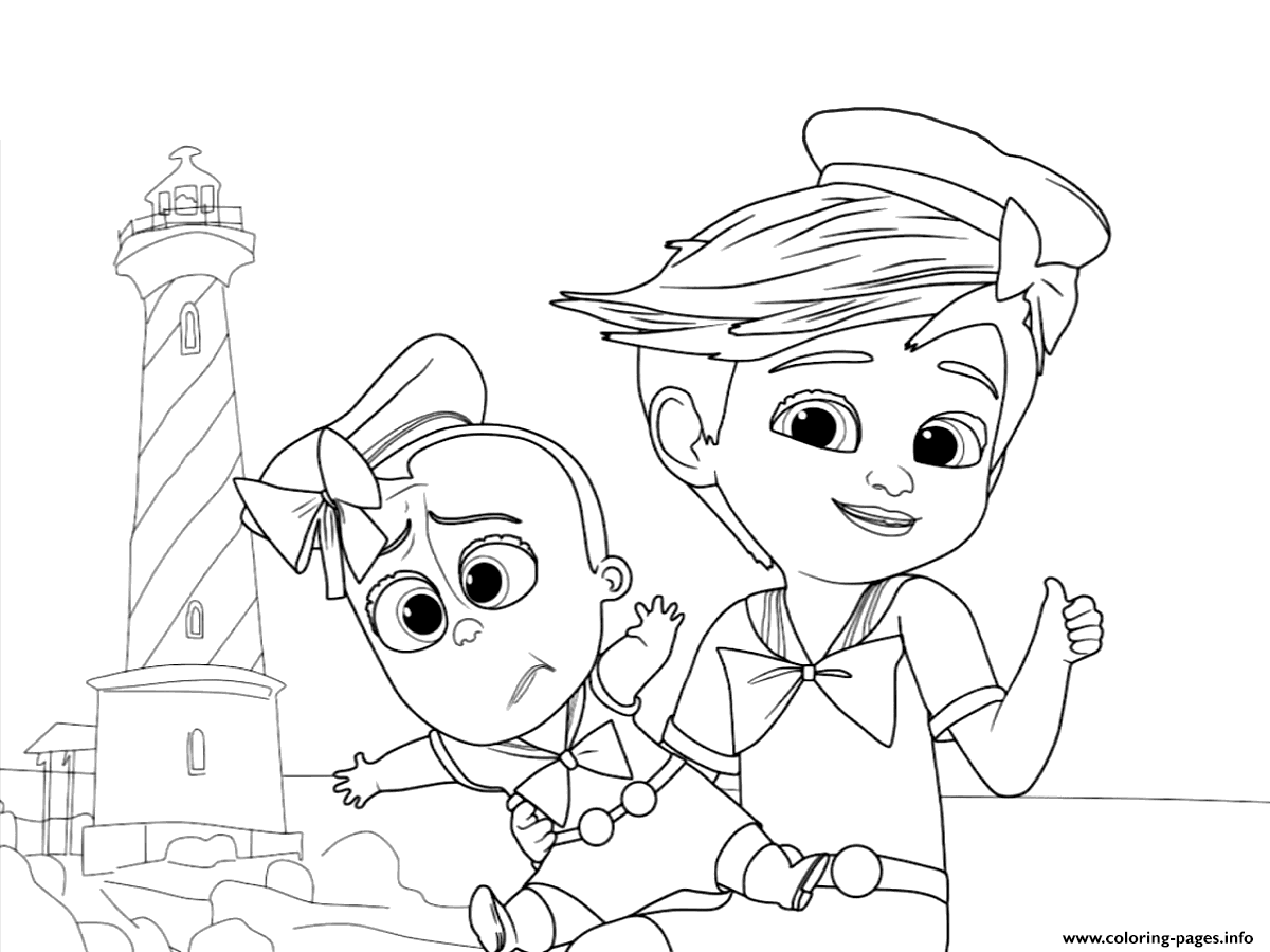 the boss baby colouring coloring pages printable