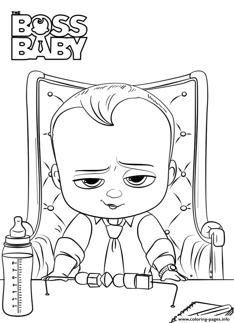 Boss Baby 2 Like A Boss President Coloring Pages Printable