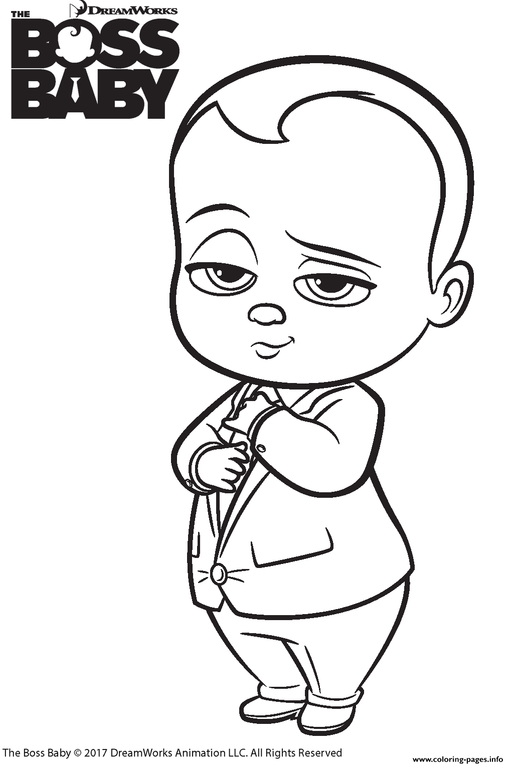 The Boss Baby 2 Coloring Pages