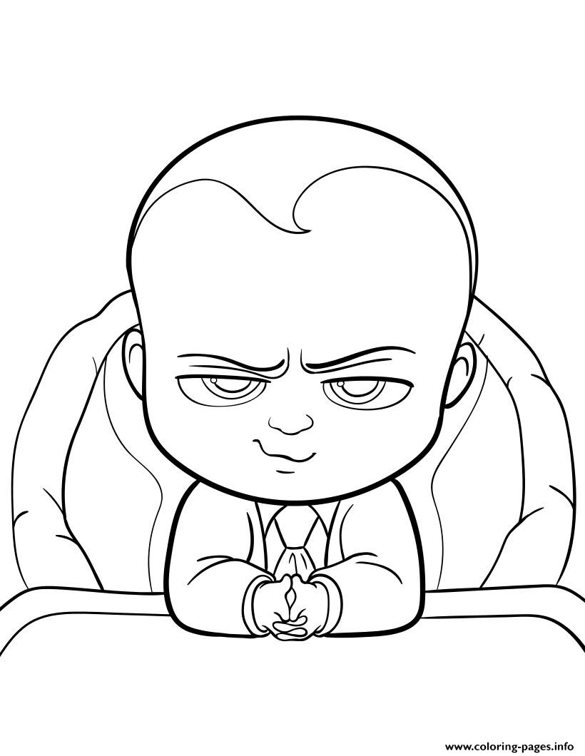 boss baby movie fun coloring pages print download