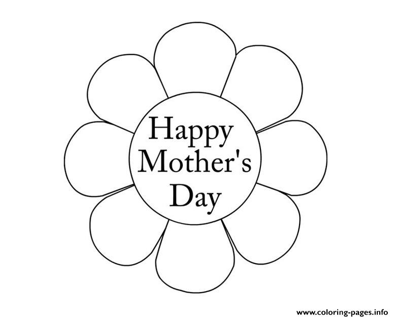 Flower Mothers Day Happy New Coloring Pages Printable