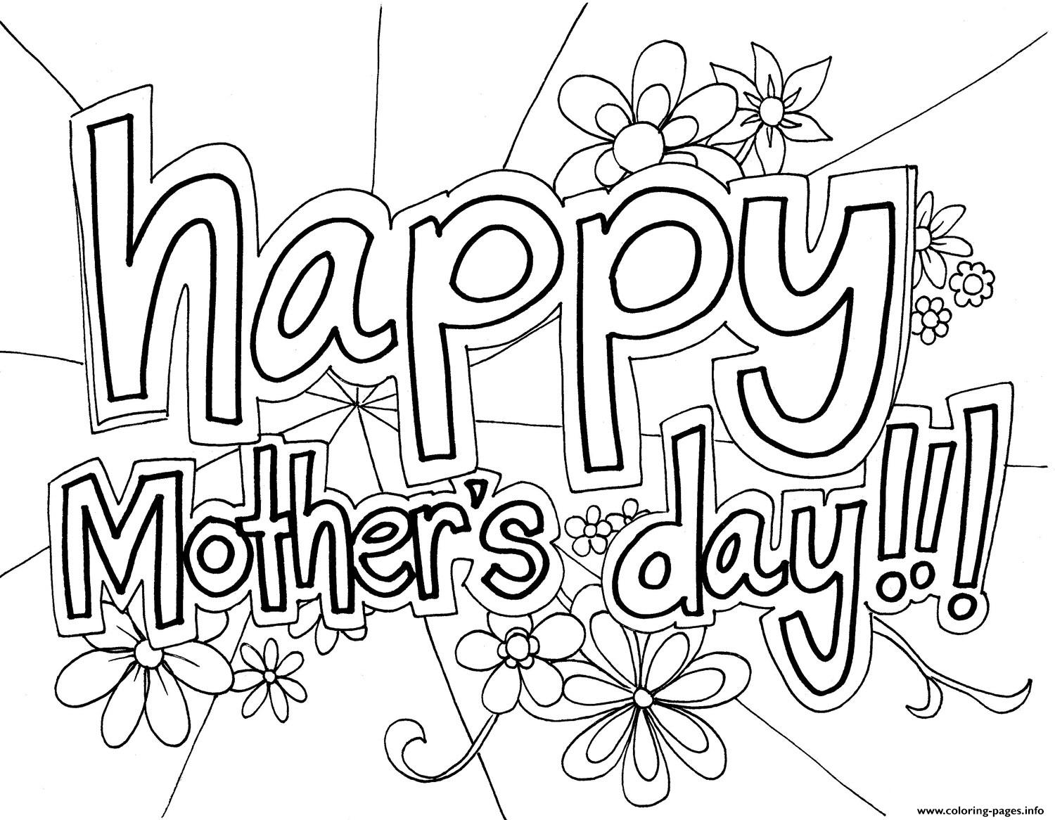 free happy mothers day coloring pages - Free Mothers Day Coloring Pages