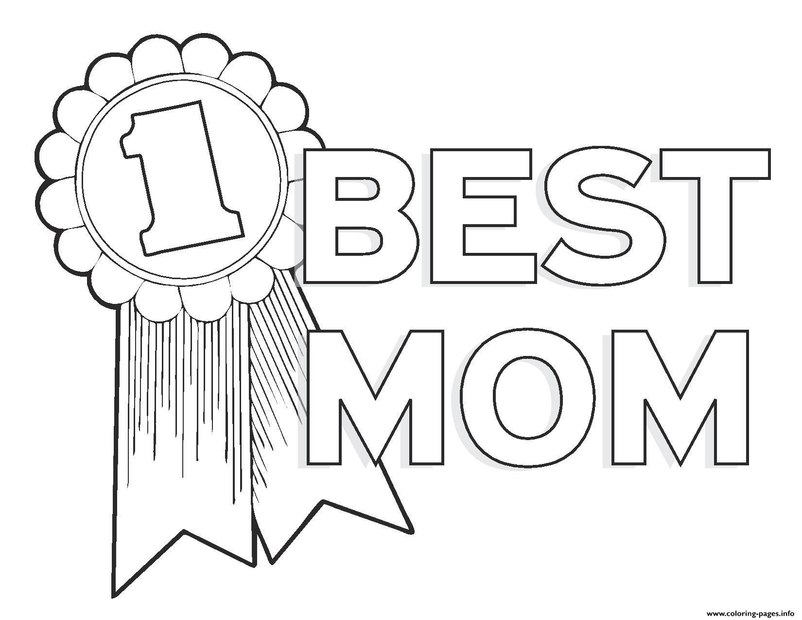 Worlds Best Mom Mothers Day Number 1 Coloring Pages Print Download
