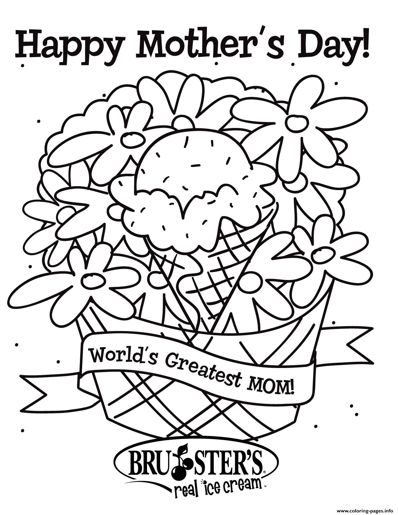 Happy Mother S Day Worlds Greatest Mom Ever Coloring Pages