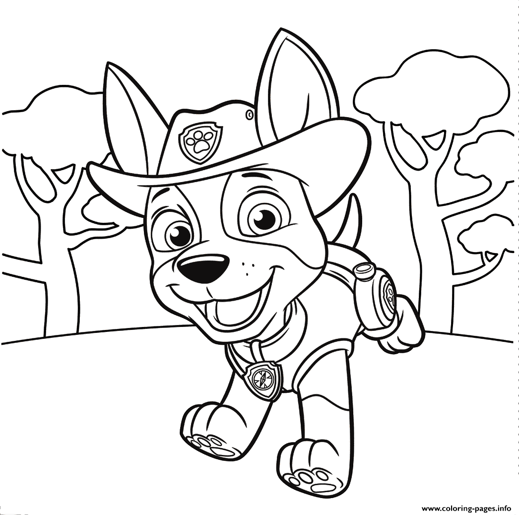 Jungle Pup Tracker PAW Patrol Coloring