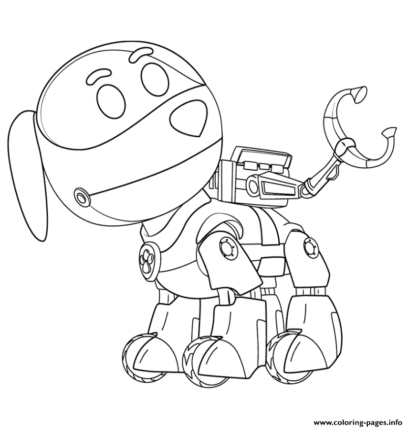 image about Printable Paw Patrol Coloring Pages called PAW Patrol Robo Doggy Coloring Internet pages Printable