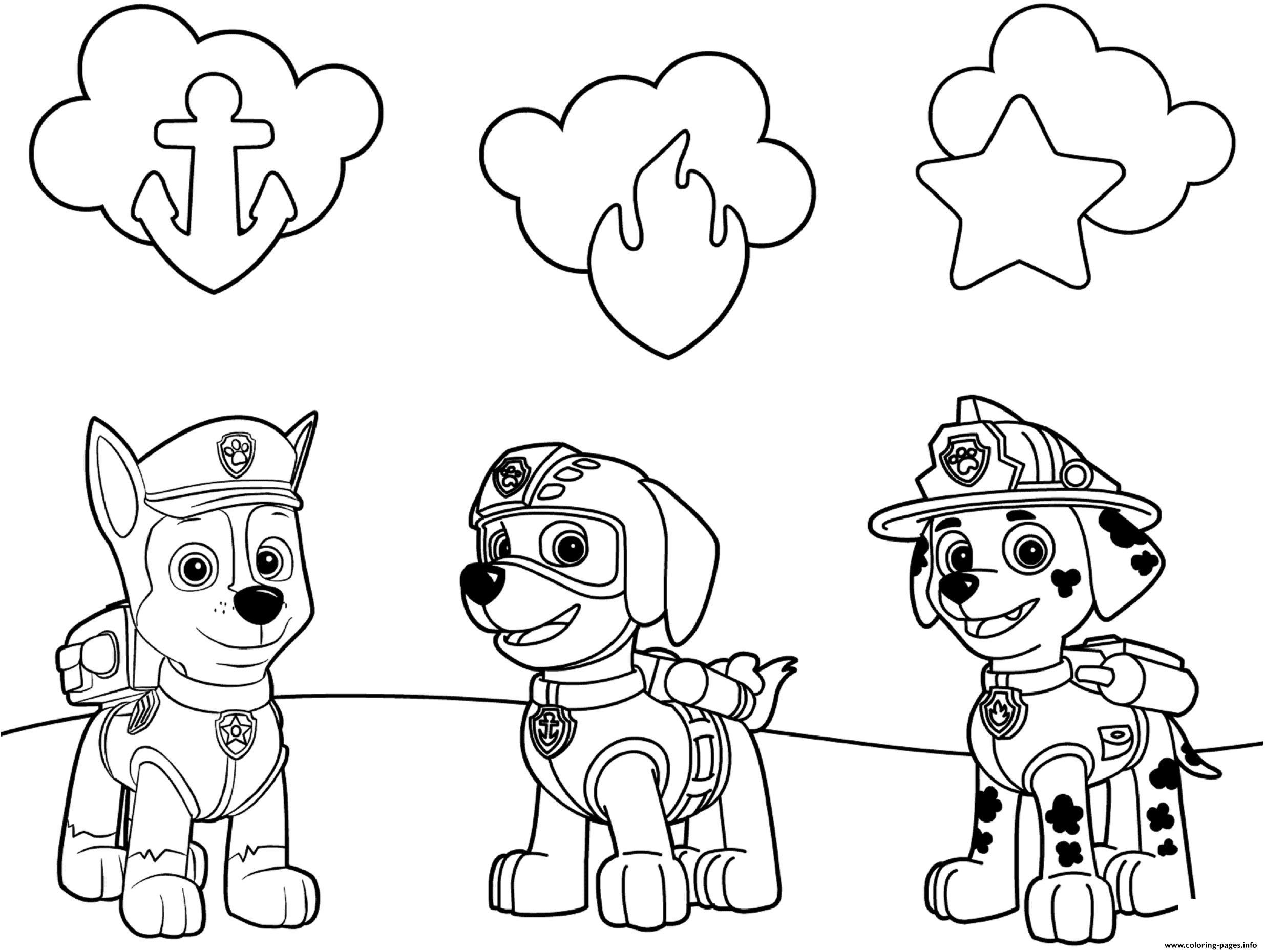 paw patrol badges coloring pages printable