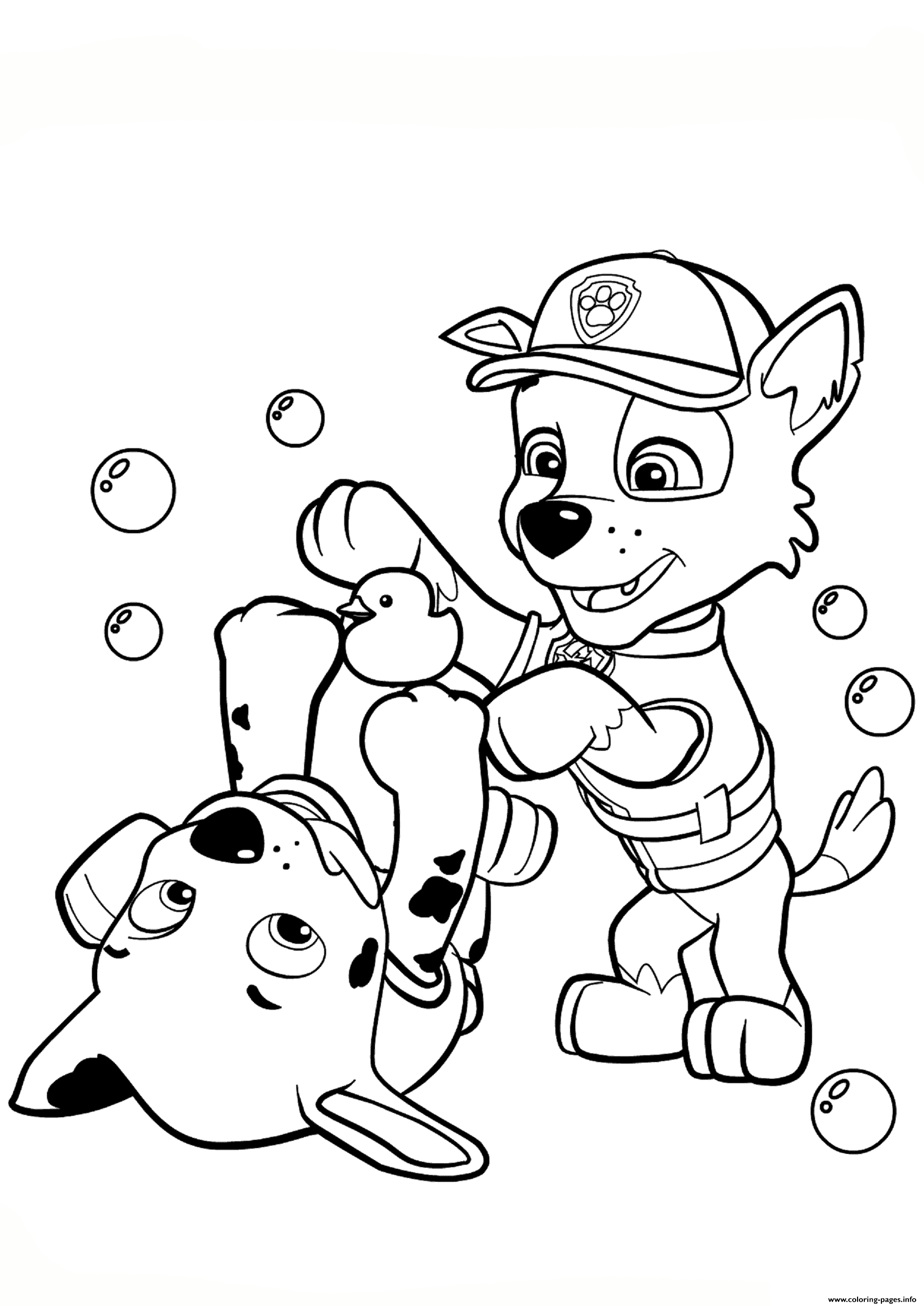 Coloring Pages Paw Patrol Rocky : Paw patrol rocky and marshall coloring pages printable