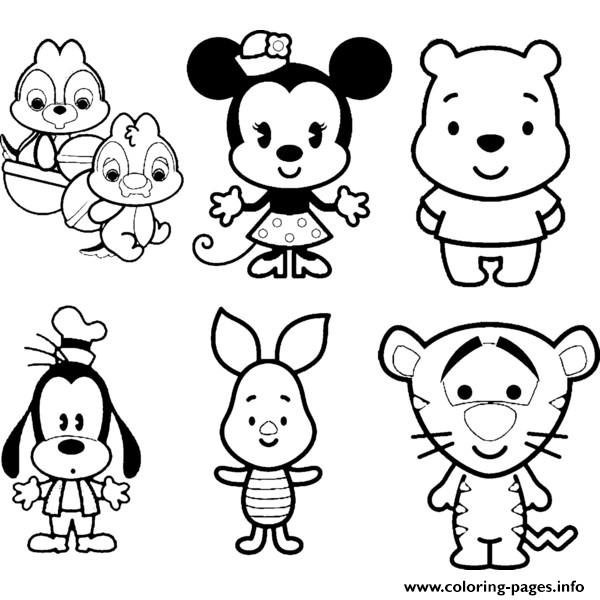 Disney Cuties Tsum Tsum Kids Coloring Pages Printable